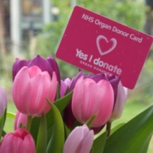Organ Donor Card with Flowers