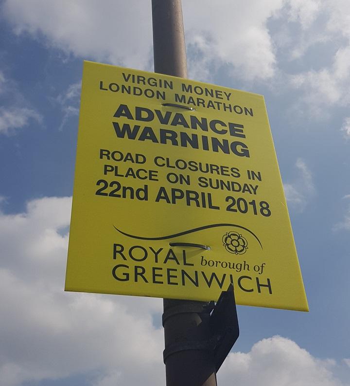 Marathon Road Closure Sign