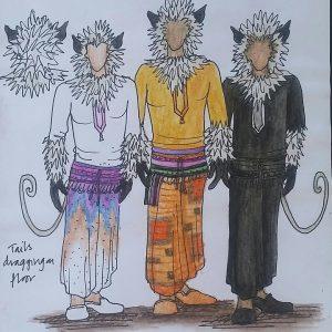 Jungle Book - monkeys - costume drawing (Cleo Pettitt)