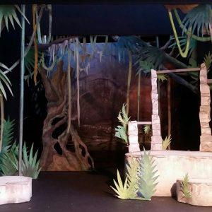 A model of the Jungle Book set