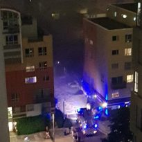 Large fire at Greenwich Millennium Village