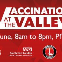 Vaccination event at Charlton Athletic Football Club