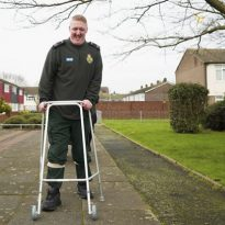 Paralysed ambulance call handler from Bexley walks for 'NHS heroes'