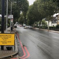 Well Hall Road closed – Monday 14th October 2019