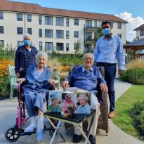 Couple celebrate their 75th wedding anniversary in Sidcup care home.