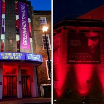 Theatres light up in 'emergency red'
