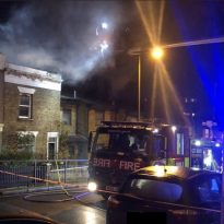 Massive house fire in Woolwich.