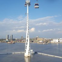High above the Thames