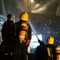 60 Firefighters tackle Charlton Blaze