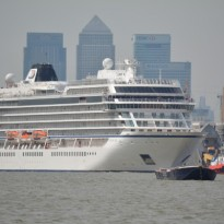 Luxury Cruise Ship Viking Sea in Greenwich