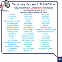 Changes to Southeastern ticket offices