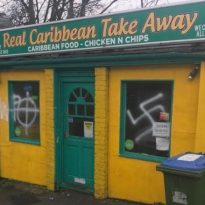 Residents in shock following racist graffiti