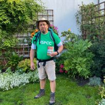 Eltham man walks 1,215 miles for charity.