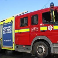 Fire brigade tackle Greenwich flat fire