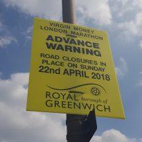 London Marathon Road Closures