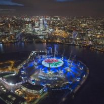 The O2 Lights Up For Rugby World Cup
