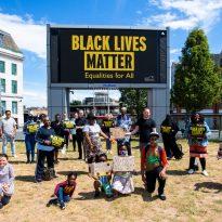 Council paints giant 'Black Lives Matter' message across General Gordon Square