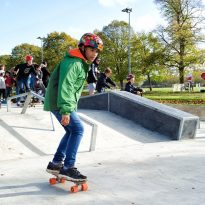 Skaters show off their moves at Skate Park launch