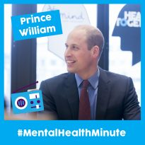 Duke of Cambridge Joins Royalty from Music, Screen and Stage for #MentalHealthMinute 2019