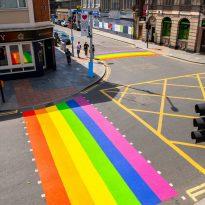Pride crossings make a colourful return